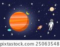 astronaut in space with planets in background 25063548