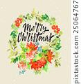 design, watercolor, christmas 25064767