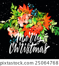 design, watercolor, christmas 25064768