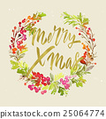 watercolor, christmas, wreath 25064774