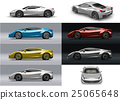 Super sport car in different colors / perspective 25065648