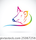 Vector of a pig logo on white background. 25067256
