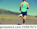 young fitness woman runner running on road 25067672