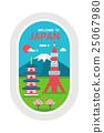 Flat design Japan landmarks 25067980