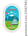 Flat design Japan landmarks 25067981