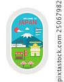 Flat design Japan landmarks 25067982