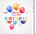 Happy Birthday greeting card design 25068389