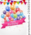 Happy Birthday greeting card design 25068394