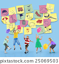 Preschool Art Doodles Creativity Concept 25069503