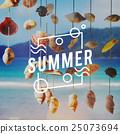 Summer Season Hot Heat Outdoors Graphic Concept 25073694