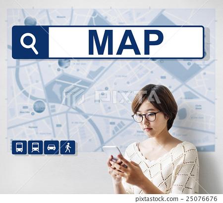 City Map Destination Route Way Route Concept 25076676