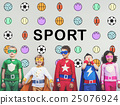Sports Letters Balls Graphic Concept 25076924