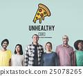 Calories Junk Food Unhealthy Obesity Concept 25078265