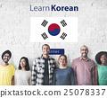 Learn Korean Language Online Education Concept 25078337
