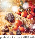 Christmas composition with festive decorations 25081546