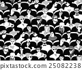 Audience group people sitting black and white 25082238