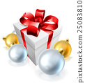 Christmas Gift or Present and Tree Baubles 25083810