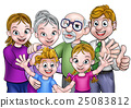 Cartoon Family 25083812