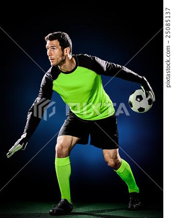 goalkeeper soccer man isolated 25085137