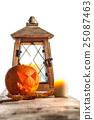 Halloween pumpkin and lantern 25087463