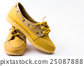 Lady canvas shoes on white background  25087888