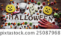 candies, cookies and word Halloween 25087968