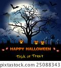 Spooky card for Halloween. 25088343