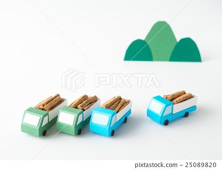 林業木材運輸森林減薄木材木材 25089820