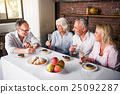 Birthday party of elderly man bin the kitchen 25092287