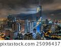 Top view of Bangkok Cityscape at night, Mahanakhon 25096437