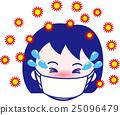 꽃가루 알레르기의 여자 01 감기 예방 인플루엔자 25096479