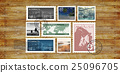Airmail Mail Postcard Letter Stamp Concept 25096705