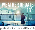 Weather Update Temperature Forecast News Meteorology Concept 25097516