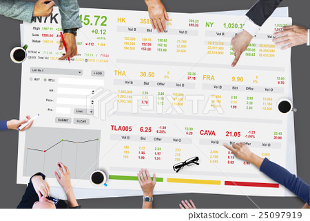 Stock Exchange Trading Forex Finance Graphic Concept 25097919