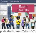 Exam Results Schedule Reminder Report Concept 25098225