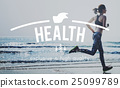 Healthcare Fitness Exercise Jog Running Concept 25099789