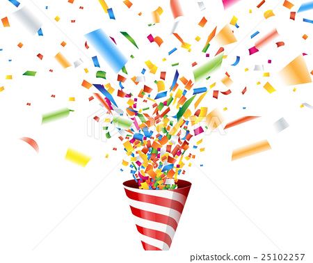 Confetti that jumps out of a cracker 25102257