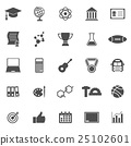 College icons on white background 25102601