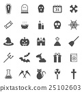 Halloween icons on white background 25102603