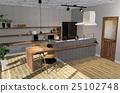 식당 주방 CG 퍼스 25102748
