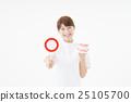 여성, 여자, 흰색 배경 25105700