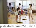 女孩 打掃 廣泛的 25107611