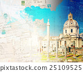 Forum - Roman ruins in Rome, Italy 25109525