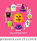 Halloween Party Flat Concept 25113456