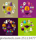 Happy Halloween Concepts Set 25113477