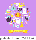 Trick or Treat Halloween Trendy Concept 25113548