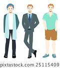 Men variety style clothing vector 25115409