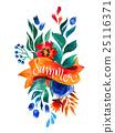 watercolor flower card. Beautiful Floral Greeting 25116371