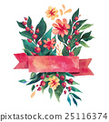 Beautiful Floral Greeting Card. Bright 25116374