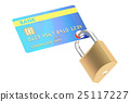 Credit Card Security concept, 3D rendering 25117227